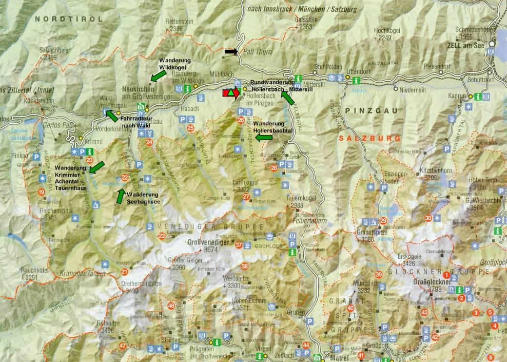 Hohe Tauern Karte.Wandern Im Pinzgau 2009 Hohe Tauern I